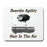 Beardie Agility: Hair In The Air Mousepad