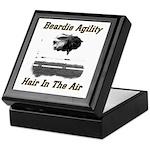 Beardie Agility: Hair In The Air Keepsake Box