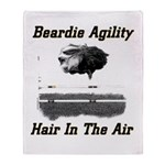Beardie Agility: Hair In The Air Throw Blanket
