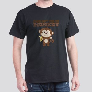 Please Dont Feed Monkey Dark T-Shirt