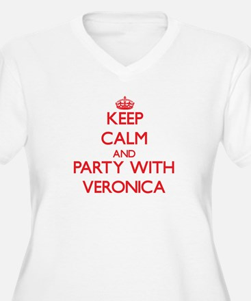 Keep Calm and Party with Veronica Plus Size T-Shir