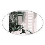 Roof Shingles Oval Sticker
