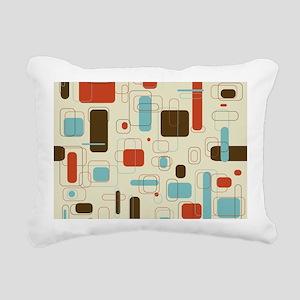 mid century modern art Rectangular Canvas Pillow