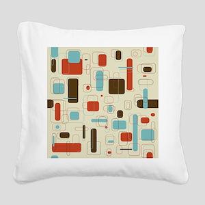 mid century modern art Square Canvas Pillow