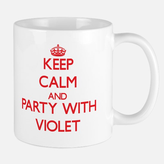 Keep Calm and Party with Violet Mugs