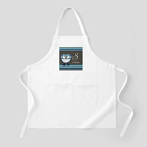 Custom Name Blue Owl Apron