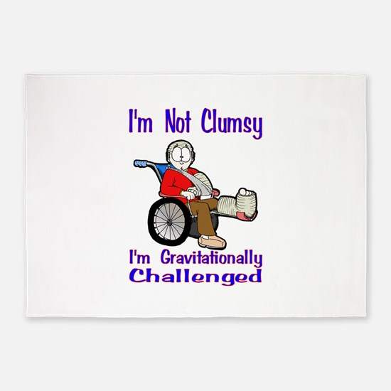 Im not Clumsy 5'x7'Area Rug