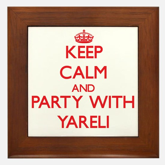Keep Calm and Party with Yareli Framed Tile