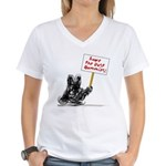 Save the Dust Bunnies! Women's V-Neck T-Shirt