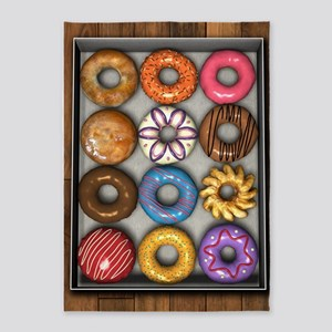 Box of Doughnuts 5'x7'Area Rug