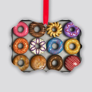 Box of Doughnuts Picture Ornament