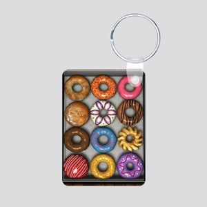 Box of Doughnuts Aluminum Photo Keychain