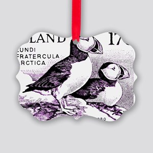 1980 Iceland Atlantic Puffins Pos Picture Ornament