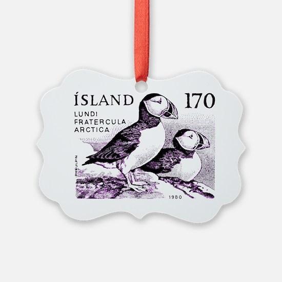 1980 Iceland Atlantic Puffins Pos Ornament