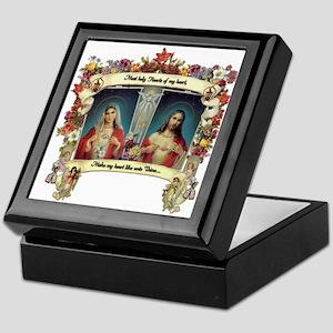 Sacred and Immaculate Hearts Keepsake Box
