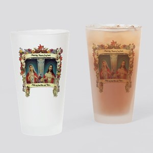 Sacred and Immaculate Hearts Drinking Glass