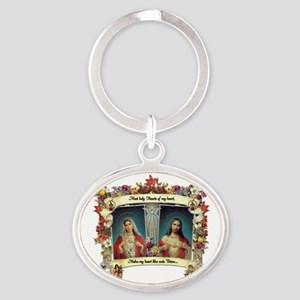 Sacred and Immaculate Hearts Keychains