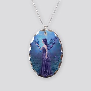 Iridescent Fairy and Dragon Art Necklace