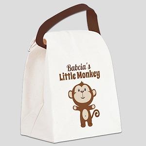 Babcias Little Monkey Canvas Lunch Bag