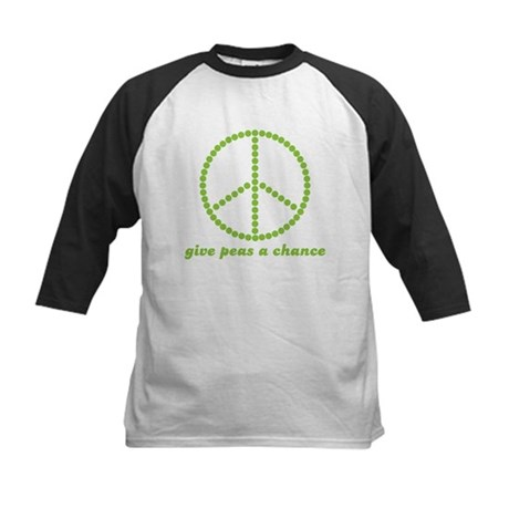 Give peas a chance Kids Baseball Jersey