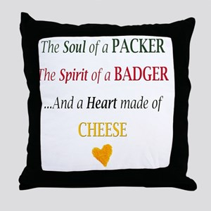 From Wisconsin Throw Pillow