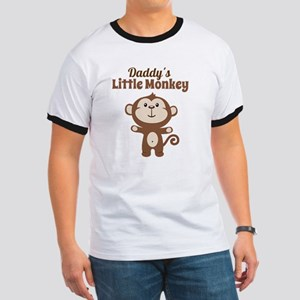 Daddys Little Monkey Ringer T