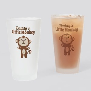 Daddys Little Monkey Drinking Glass