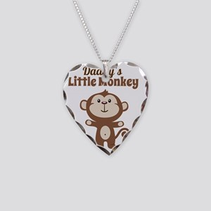 Daddys Little Monkey Necklace Heart Charm