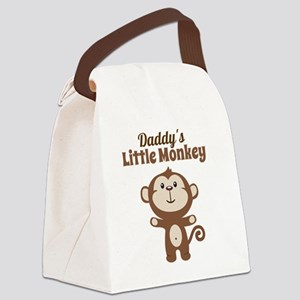 Daddys Little Monkey Canvas Lunch Bag