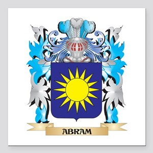 "Abram Coat Of Arms Square Car Magnet 3"" x 3"""