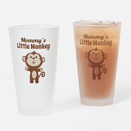 Mommys Little Monkey Drinking Glass
