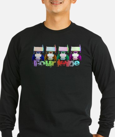 Four Wide Long Sleeve T-Shirt