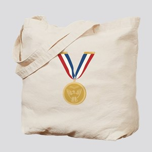 Gold Medal Of Honor Tote Bag