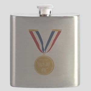 Gold Medal Of Honor Flask