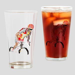 cyclist Drinking Glass