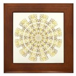Treble Alto Clef Mandala Framed Tile