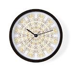 Treble Alto Clef Mandala Wall Clock