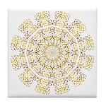 Treble Alto Clef Mandala Tile Coaster