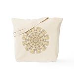 Treble Alto Clef Mandala Tote Bag