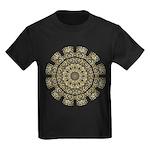 Treble Alto Clef Mandala Kids Dark T-Shirt