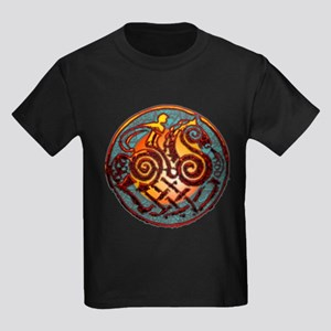 Odin, Odhin, god of the hunt Kids Dark T-Shirt