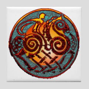 Odin, Odhin, god of the hunt Tile Coaster