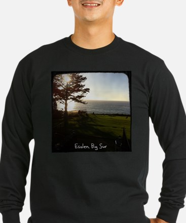 Front lawn at Esalen, Big Sur Long Sleeve T-Shirt