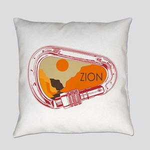 Zion Climbing Carabiner Everyday Pillow