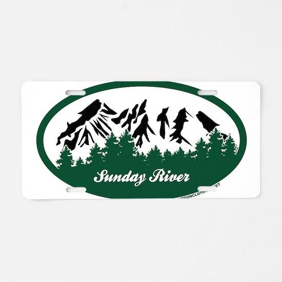 Sunday River State Park Aluminum License Plate