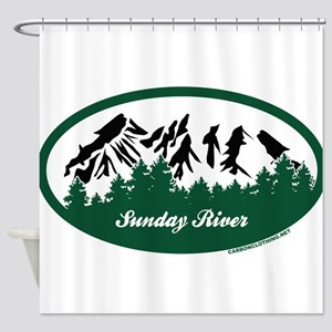Sunday River State Park Shower Curtain