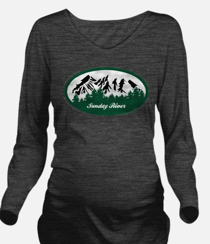 Sunday River State Park Long Sleeve Maternity T-Sh