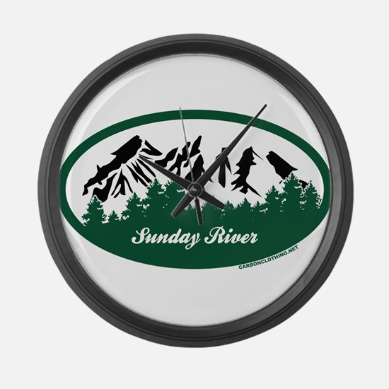 Sunday River State Park Large Wall Clock