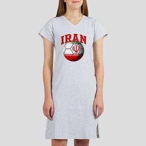 Flag of Iran Soccer Ball Women's Nightshirt