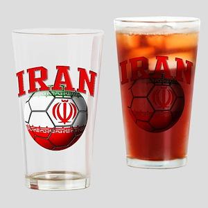 Flag of Iran Soccer Ball Drinking Glass